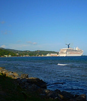 Cruise Ship off Roatan