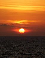 Cruise Ship Sunset off Balcon