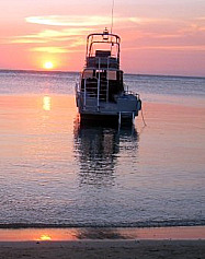 Roatan Sunset with Boat