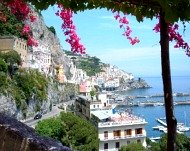 Amalfi Coast through trees